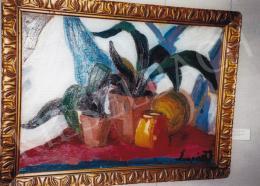Nemes Lampérth József - Növénycsendélet; 68,5x94; olaj, vászon; Jelezve jobbra lent: Lampérth J.; Fotó: Kieselbach Tamás