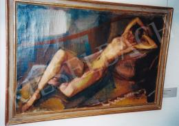 Márffy Ödön - Fekvő női akt; olaj, vászon; Jelezve jobbra lent: Márffy Ödön; Fotó: Kieselbach Tamás