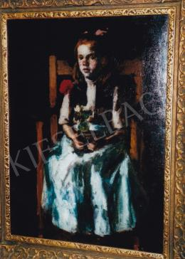 Koszta, József - Girl with Geranium, 1917; 92,5x66; oil on canvas; Signed lower right: Koszta; Photo: Tamás  Kieselbach