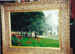 Glatz, Oszkár - Park with Tulips; oil on canvas; Photo: Tamás Kieselbach