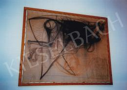 Kondor, Béla - Drawing; Charcoal and chalk on canvas; Unsigned; Photo: Tamás Kieselbach