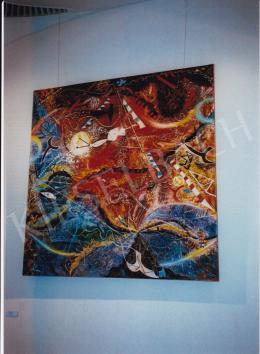 Lossonczy, Tamás - Tisztító nagy vihar, 1961; oil on canvas; 300x300; Photo: Tamás Kieselbach