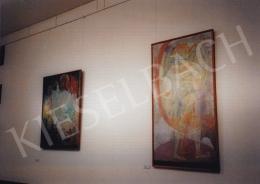 Kondor, Béla - Angel with Knife; oil on wood; Photo: Tamás Kieselbach