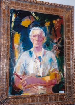 Márffy Ödön - Önarckép ecsettel, 1930; 93,5x66,5; olaj, vászon; Jelzés nélkül; Fotó: Kieselbach Tamás