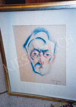 Scheiber, Hugó - Man Portrait; mixed media on paper; Signed lower right: Scheiber H; Photo: Tamás Kieselbach