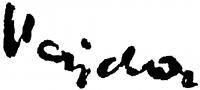 Vajda Lajos aláírása