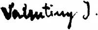 Valentiny, János Signature