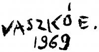 Vaszkó Erzsébet aláírása