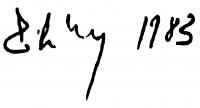 Záborszky Gábor aláírása