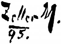 Zeller Mihály aláírása