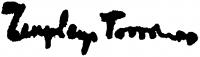 Zemplényi, Tivadar Signature