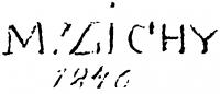 Zichy Mihály aláírása