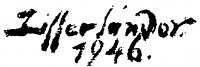 Ziffer Sándor aláírása