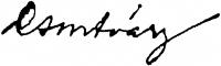 Csontváry Kosztka Tivadar aláírása