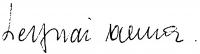 Lesznai Anna aláírása