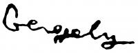 Gergely Tibor aláírása