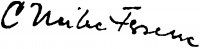 Czinke Ferenc aláírása