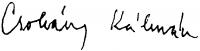 Csohány Kálmán aláírása