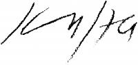 Kass János aláírása