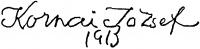 Kornai József aláírása
