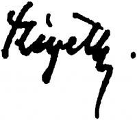 Szigethy István aláírása