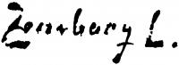 Zombory Lajos aláírása