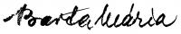 Barta Mária aláírása