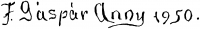 Felekiné Gáspár Anni aláírása