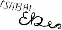 Csabai-Ékes Lajos aláírása