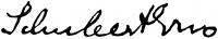 Schubert Ernő aláírása