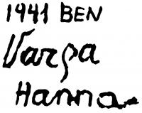 Varga Hanna aláírása