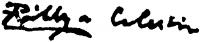 Pállya Celesztin aláírása