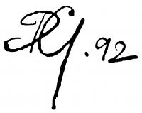 Dienes Gábor aláírása