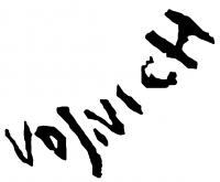 Vojnich Erzsébet aláírása