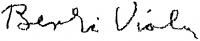 Berki Viola aláírása