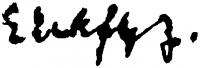 Elekfy Jenő aláírása
