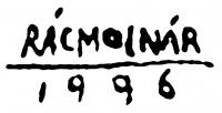 Rácmolnár Sándor aláírása