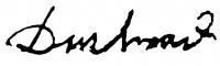 Duschanek János aláírása