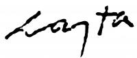 Lajta Gábor aláírása