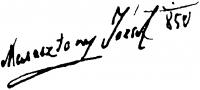 Marastoni József aláírása
