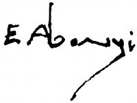 Abonyi Ernő aláírása