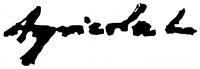 Agricola Lídia aláírása
