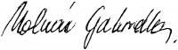 Molnár Gabriella aláírása
