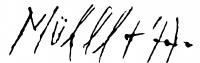 Müller Árpád aláírása