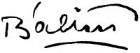 Bálint Endre aláírása