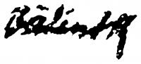 Bálint Rezső aláírása