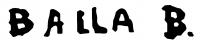 Balla Béla aláírása