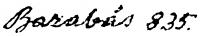 Barabás Miklós aláírása