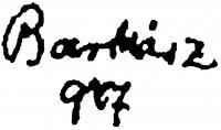 Barkász Lajos aláírása
