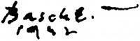 Basch Edit aláírása
